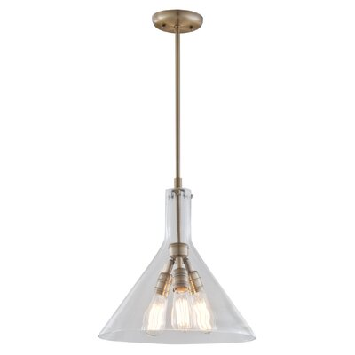 Engelhardt 3-Light Geometric Pendant Color: Restoration Bronze