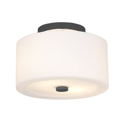 Stahlman 2-Light Semi Flush Mount Fixture Finish: Graphite