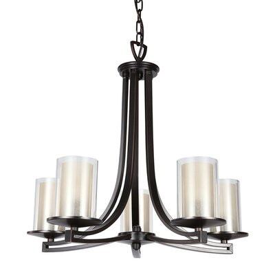 Matthies 5-Light Candle-Style Chandelier Fixture Finish: Oil Rubbed Bronze