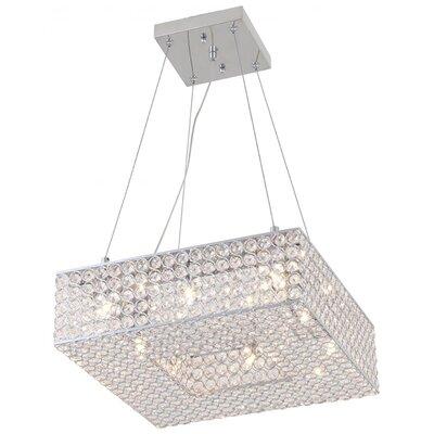 Langer 8-Light Crystal Pendant Size: 5.5 H x 14 W x 14 D