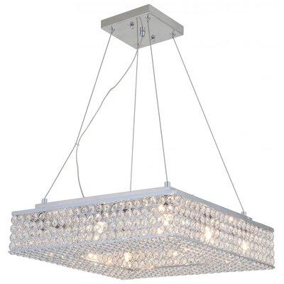 Langer 8-Light Crystal Pendant Size: 5 H x 18 W x 18 D