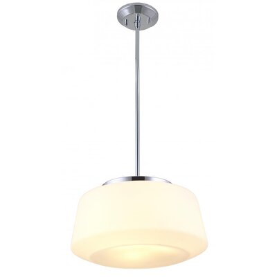 Engelman 3-Light Inverted Pendant Color: Chrome, Shade Color: True Opal