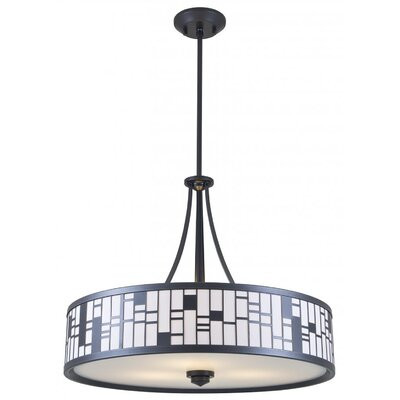 Stickles 3-Light Drum Pendant Finish: Graphite, Shade Color: White, Size: 18.5 H x 22.5 W x 22.5 D