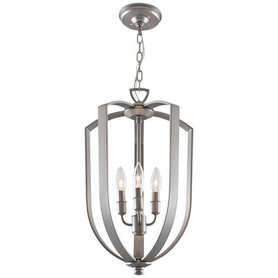 Hust 4-Light Foyer Pendant Finish: Buffed Nickel, Size: 15.75 H x 10 W x 10 D