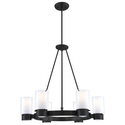 Matthies 6-Light Candle-Style Chandelier Fixture Finish: Graphite
