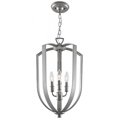 Hust 4-Light Foyer Pendant Finish: Chrome, Size: 15.75 H x 10 W x 10 D