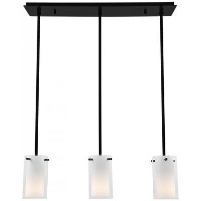 Matthies Adjustable Canopy 3-Light Kitchen Island Pendant Finish: Graphite