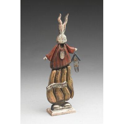 Cleghorn Wooden Welcome Rabbit Figurine 94B7EA001EC447AE9BD00EA57BF75090