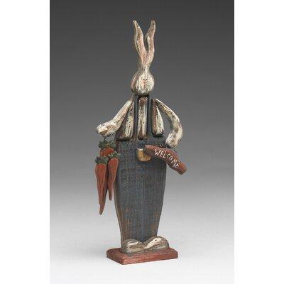 Clevenger Wooden Welcome Rabbit Figurine 7EF343FCB33449468042FFEFACF205E3
