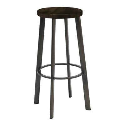 Chalmers 30 Bar Stool Color: Barnwood