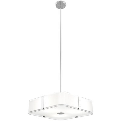 Stallman 3-Light Drum Pendant Finish: Chrome, Size: 4.25 H x 16 W x 16 D