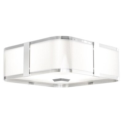 Stallman 3-Light Flush Mount Fixture Finish: Chrome