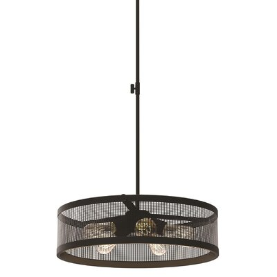 Gullo 5-Light Drum Pendant Finish: Graphite