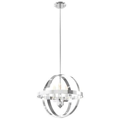 Millsap 3-Light Globe Pendant Finish: Chrome