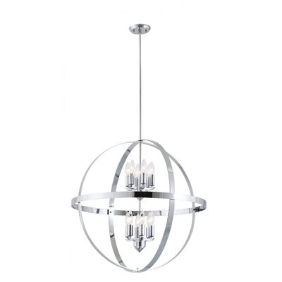 Millsap 12-Light Globe Pendant Finish: Chrome
