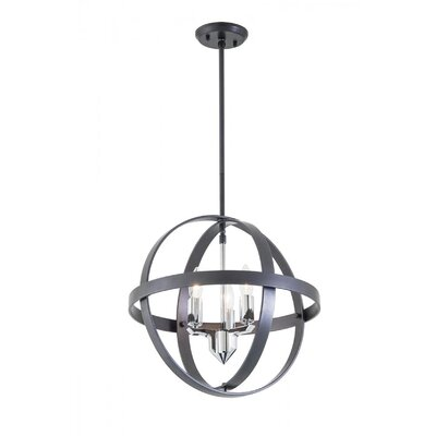 Millsap 3-Light Globe Pendant Finish: Graphite