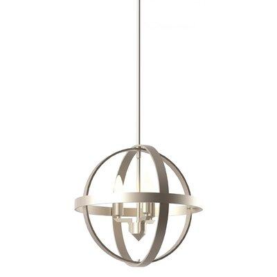 Millsap 3-Light Globe Pendant Finish: Satin Nickel