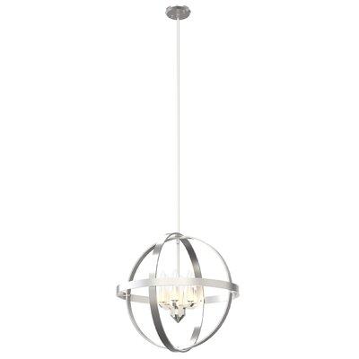 Millsap 6-Light Globe Pendant Finish: Satin Nickel