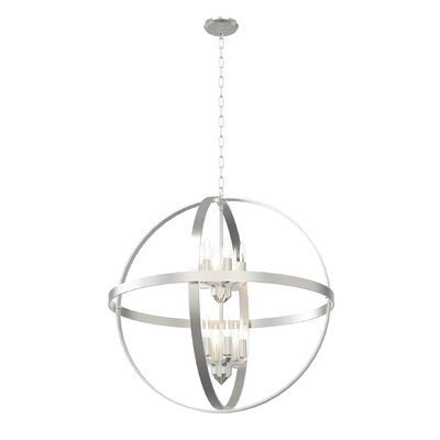 Millsap 12-Light Globe Pendant Finish: Satin Nickel
