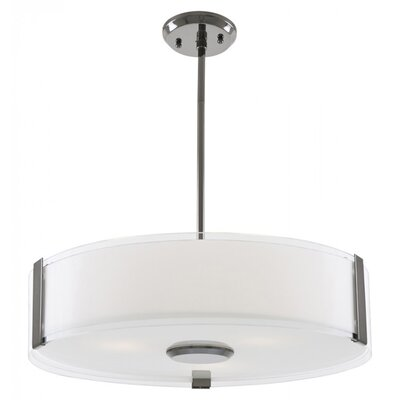 Mauch 3-Light Drum Pendant Finish: Graphite, Size: 5 H x 20 W x 20 D
