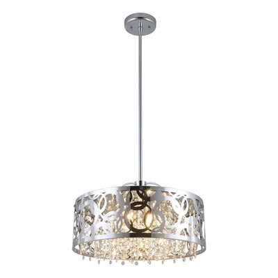 Millner 3-Light Drum Pendant Finish: Chrome