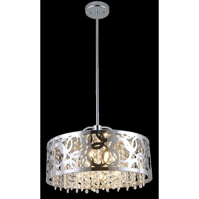 Millner 6-Light Drum Pendant Finish: Chrome