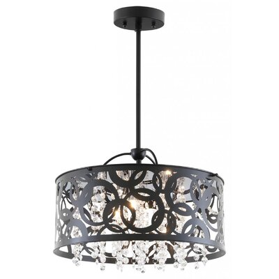 Millner 3-Light Drum Pendant Finish: Ebony