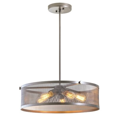 Gullo 5-Light Drum Pendant Finish: Champagne