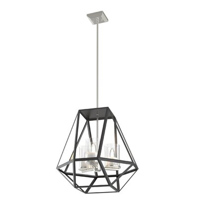 Lockett 3-Light Foyer Pendant Finish: Buffed Nickel/Graphite