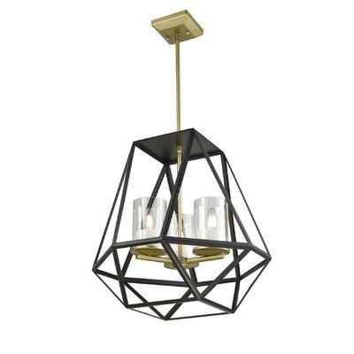 Lockett 3-Light Foyer Pendant Finish: Soft Gold/Graphite