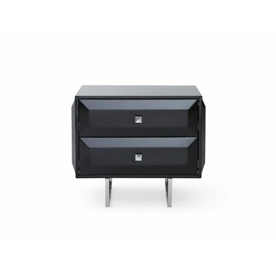 Sicard 2 Drawer Nightstand