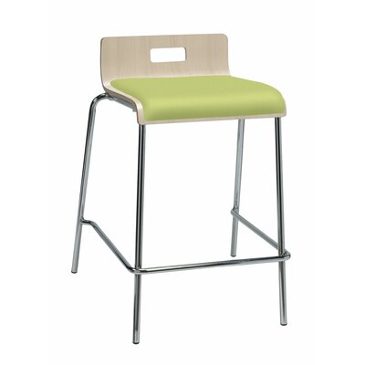 Aycock 25 Bar Stool Upholstery: Green Apple Vinyl, Color: Natural Back