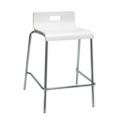 Aycock 25 Bar Stool Color: White
