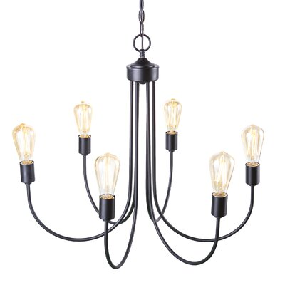Woolverton 6-Light Candle-Style Chandelier
