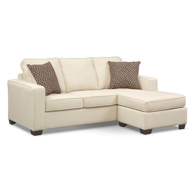 Matney Reversible Sleeper Sectional Upholstery: Beige