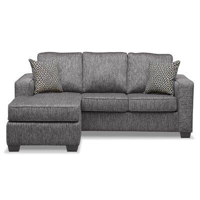 Matney Reversible Sleeper Sectional Upholstery: Charcoal