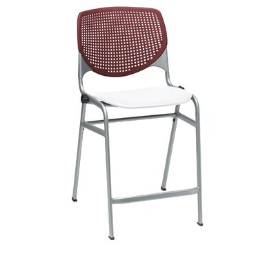 Lundell 25 Bar Stool Color: Burgundy