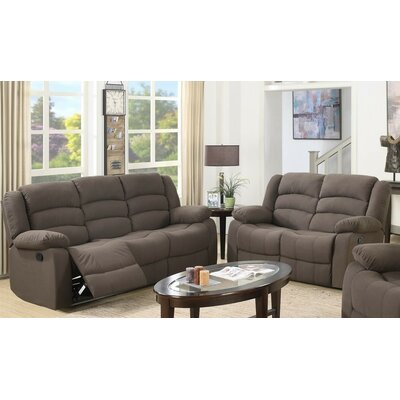 Essex Street 2 Piece Living Room Set Upholstery: Brown