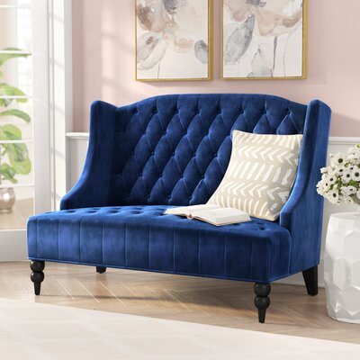 Carolina Standard Loveseat Upholstery: Navy Blue