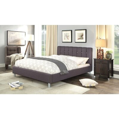 Fifer Linen Queen Upholstered Platform Bed