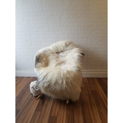 Augustin One-of-a-Kind Whiteway Hand-Woven Sheepskin Cream Area Rug