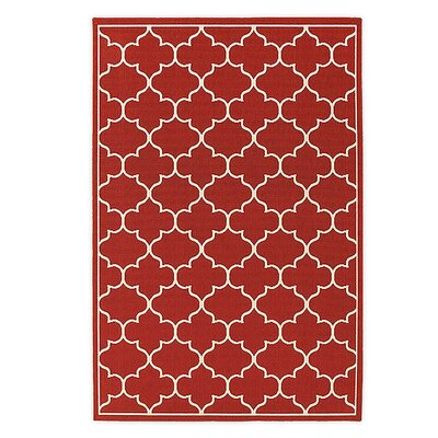 Lexington Red Indoor/Outdoor Area Rug Rug Size: Rectangle 710 x 1010