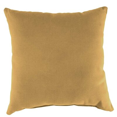 Outdoor Throw Pillow Color: Butter, Size: 15 H x 15 W