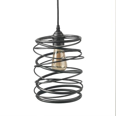 Haith 1-Light Foyer Pendant Finish: Black