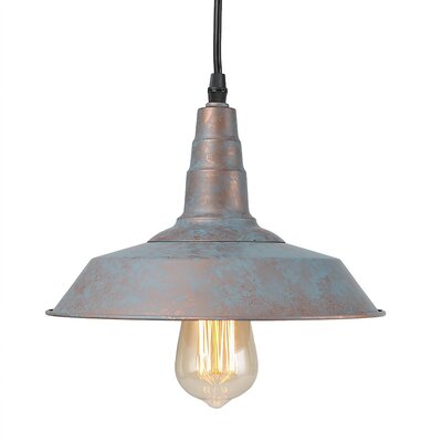 1-Light Mini Pendant Finish: Light Metal, Size: 7.1 H x 10.2 W x 10.2 D
