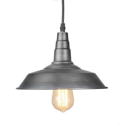 1-Light Mini Pendant Finish: Metal, Size: 7.1 H x 10.2 W x 10.2 D