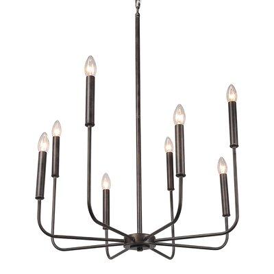 Fleur 8-Light Candle-Style Chandelier Finish: Bronze