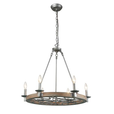 Faustine 6-Light Candle-Style Chandelier