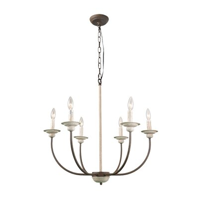 Leigh 6-Light Candle-Style Chandelier