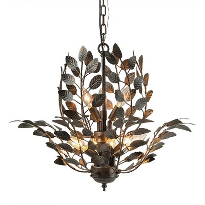 Sturgeon Leaves 9-Light Candle-Style Chandelier